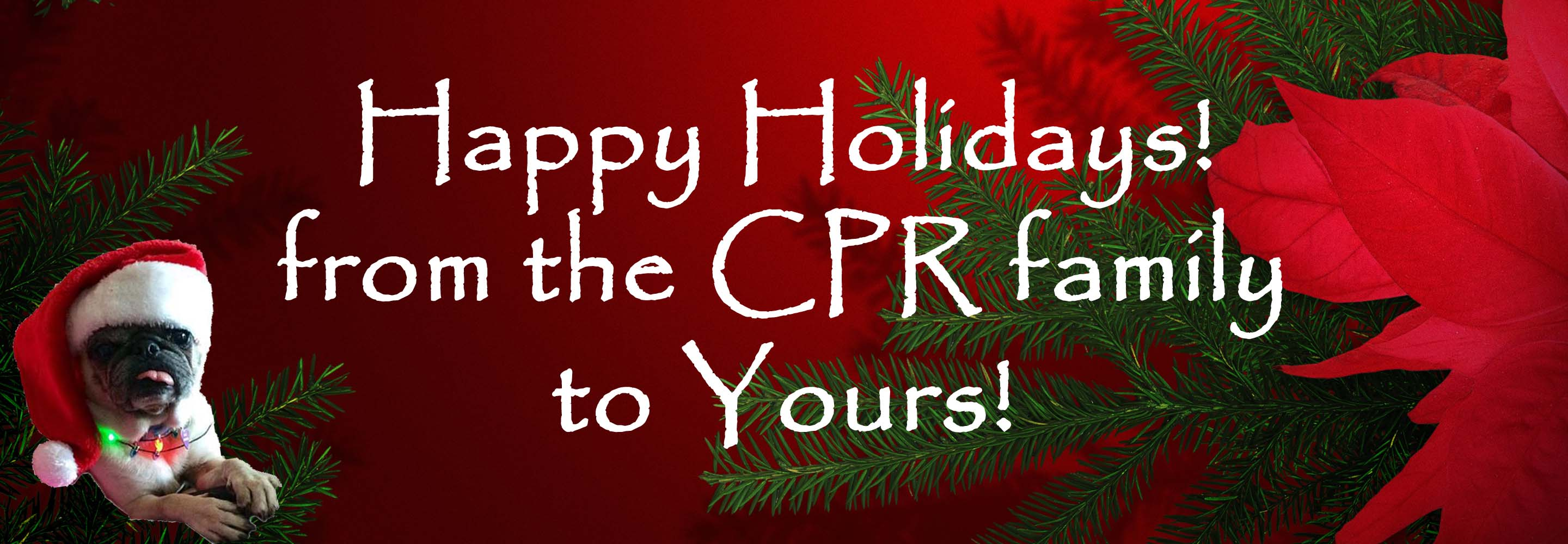 Happy Holidays! From the CPR Family to Yours!